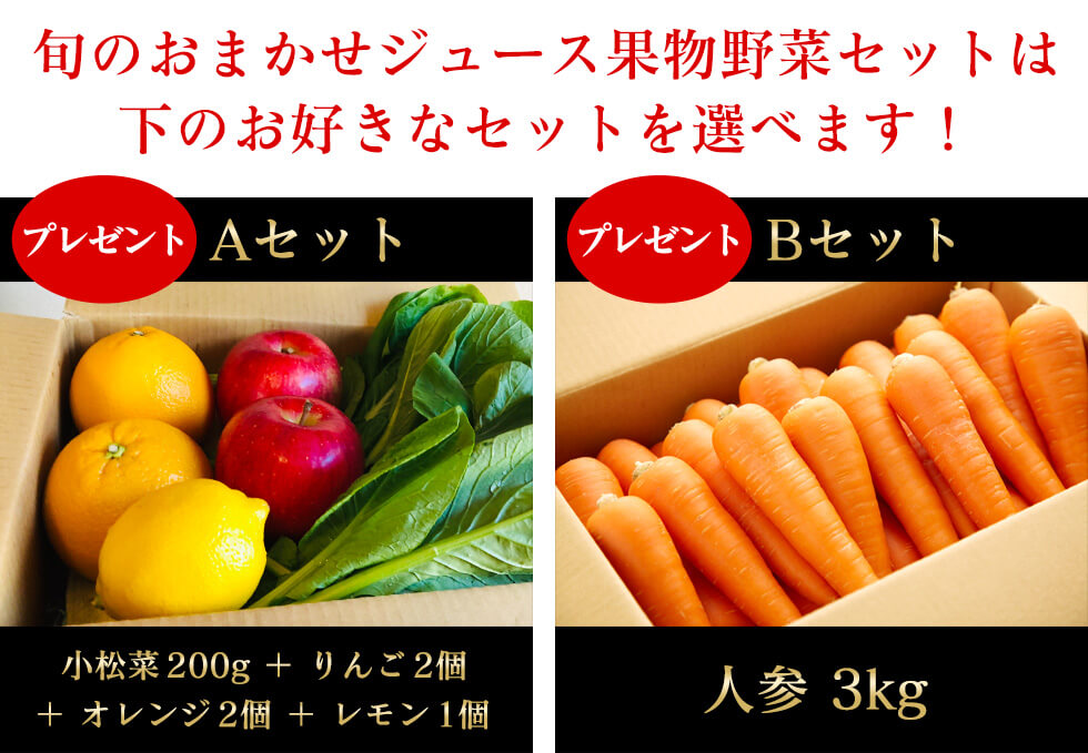 EVO-800を買ったらついてくる果物野菜セット